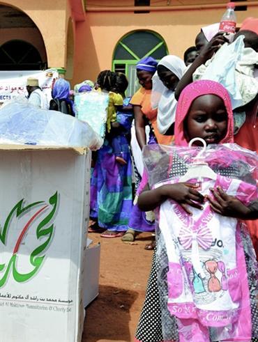 صاحب السمو الشيخ محمد بن راشد آل مكتوم - 100 طن مواد إغاثية من