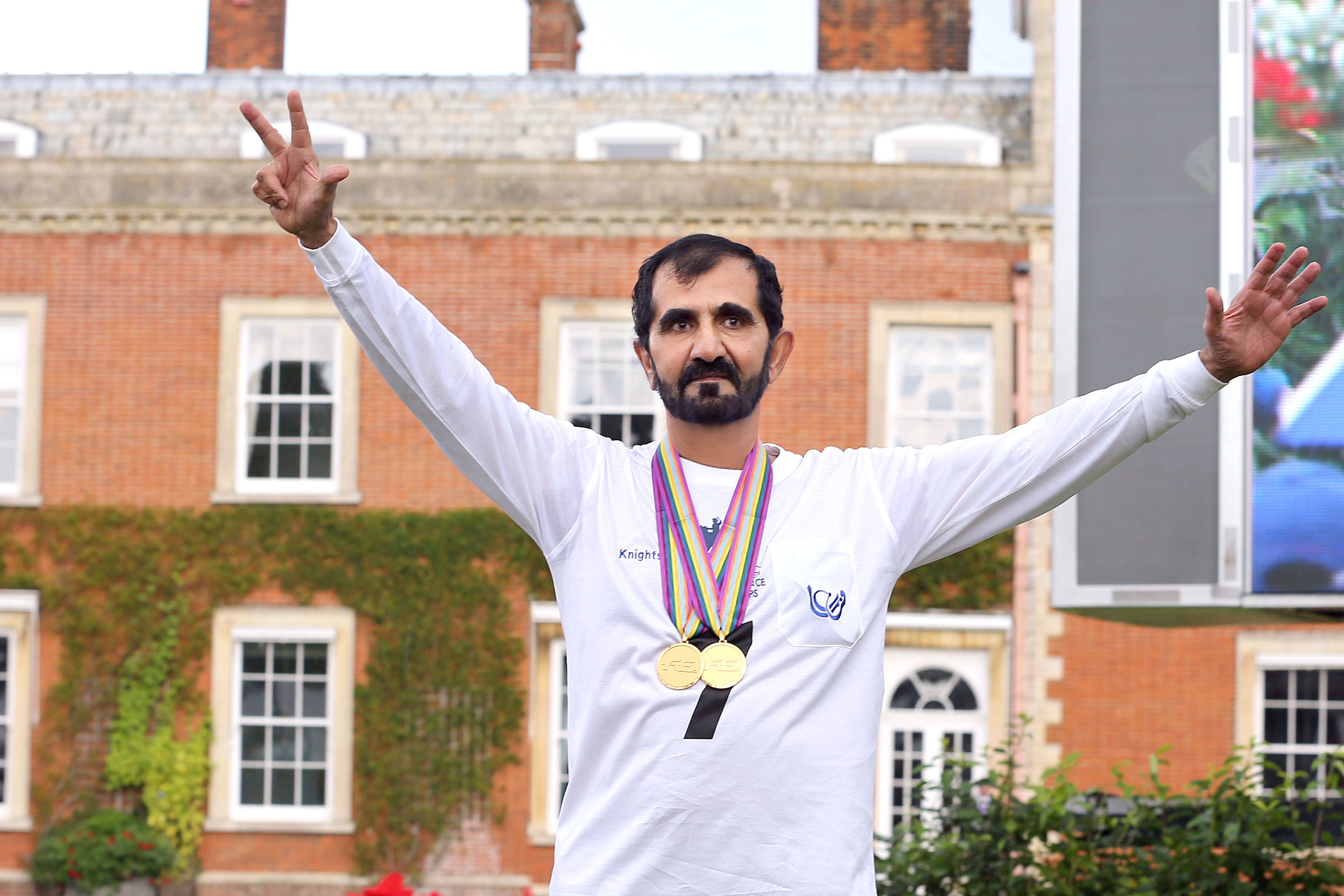 His Highness Sheikh Mohammed bin Rashid Al Maktoum - Sheikh Mohammed's interview with Al Khaleej daily after his historic win in the UK