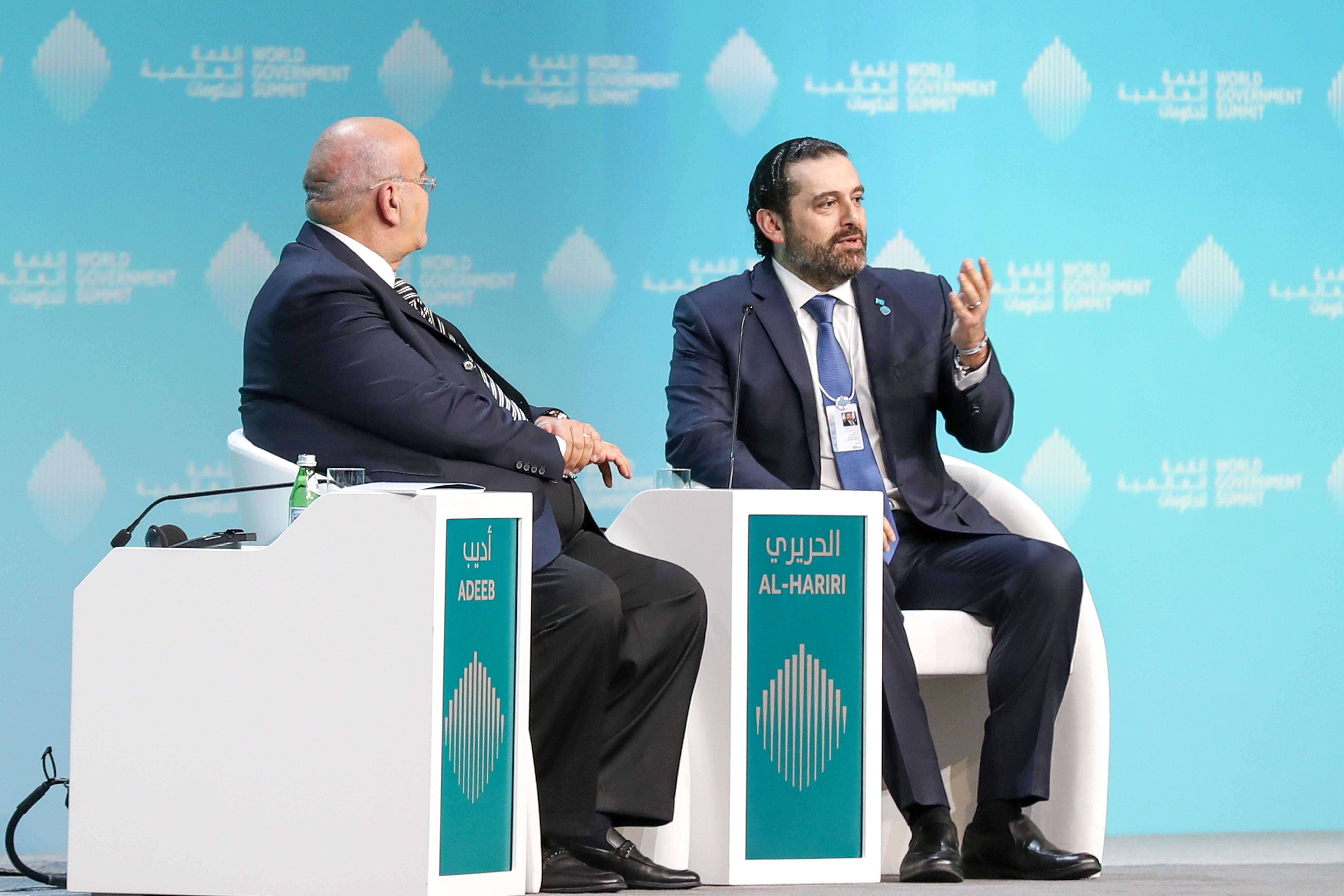 His Highness Sheikh Mohammed bin Rashid Al Maktoum - VP attends WGS's plenary session hosting Lebanese PM