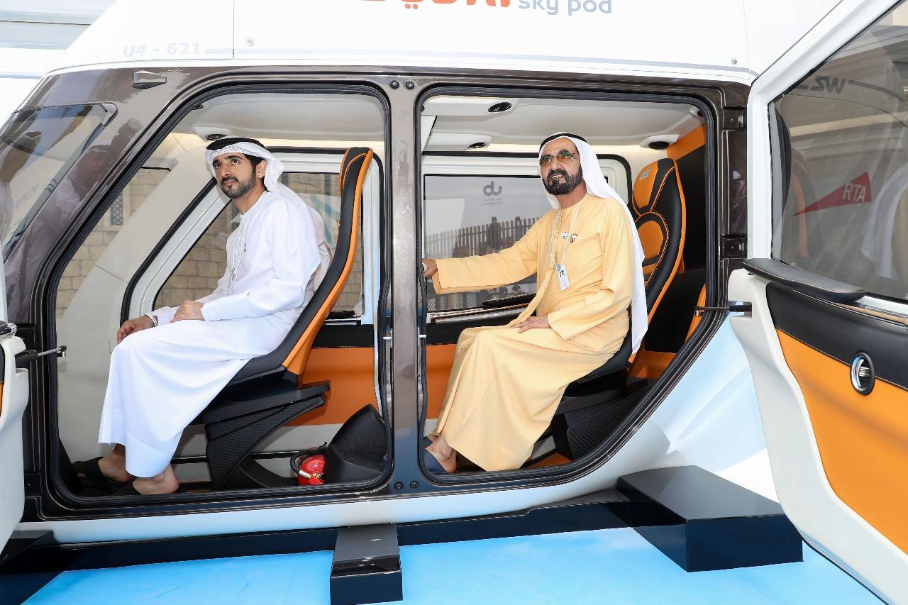 His Highness Sheikh Mohammed bin Rashid Al Maktoum - Mohammed bin Rashid reviews Sky Pod models