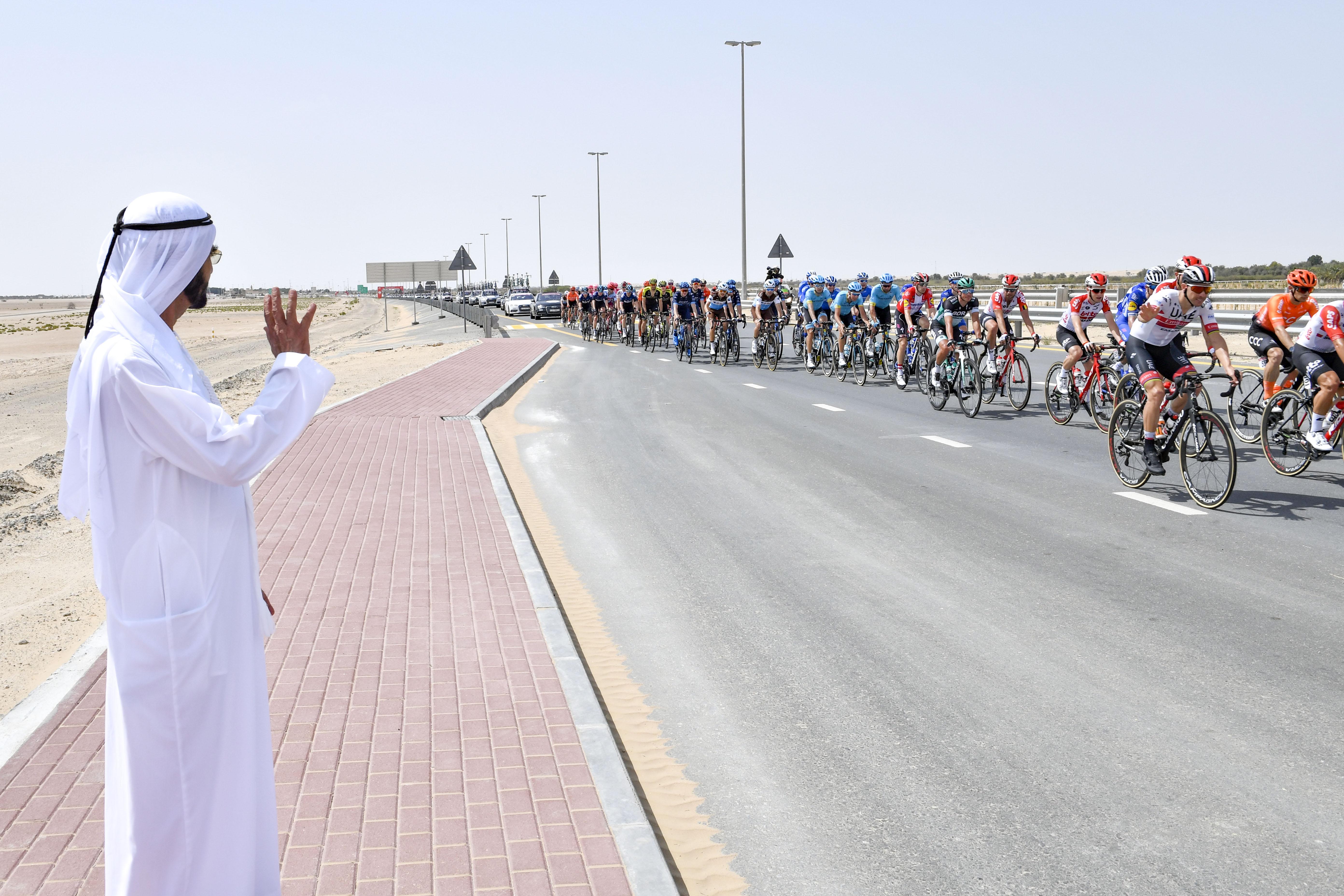 His Highness Sheikh Mohammed bin Rashid Al Maktoum - Mohammed bin Rashid attends The UAE Tour