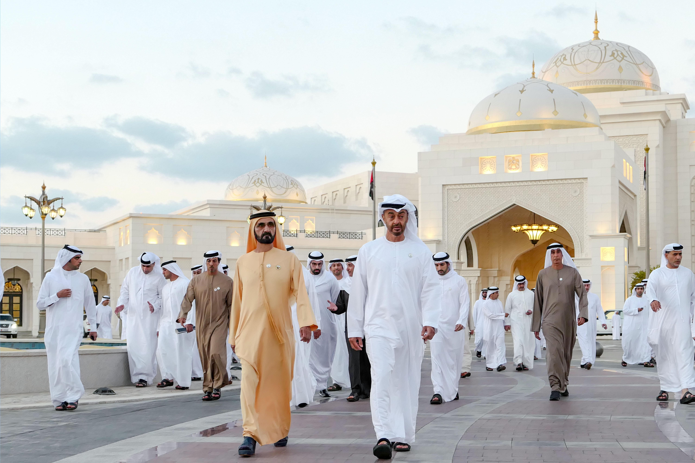 His Highness Sheikh Mohammed bin Rashid Al Maktoum - Mohammed bin Rashid and Mohamed bin Zayed open Qasr Al Watan