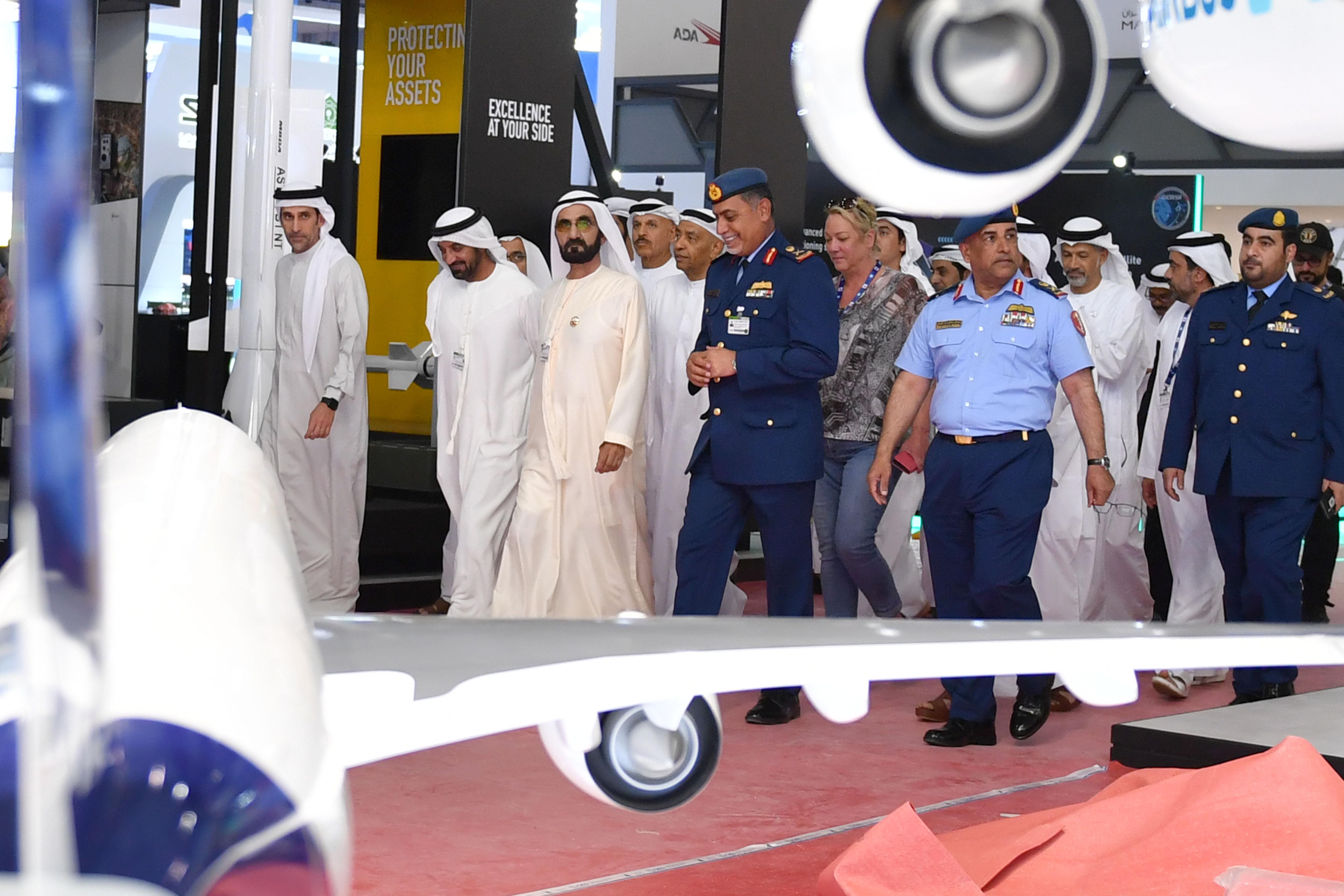 His Highness Sheikh Mohammed bin Rashid Al Maktoum - Mohammed bin Rashid inspects preparations for Dubai Airshow 2019