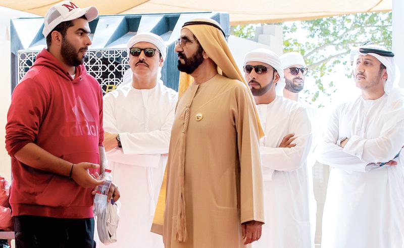 صاحب السمو الشيخ محمد بن راشد آل مكتوم - محمد بن راشد يشهد سباق كأس اليوم الوطني للقدرة بالوثبة