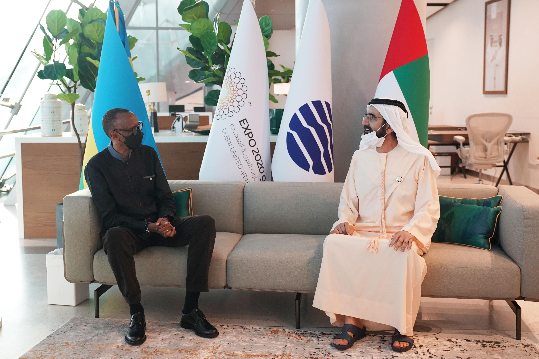 His Highness Sheikh Mohammed bin Rashid Al Maktoum - Mohammed bin Rashid receives President of Rwanda and discusses ways to strengthen bilateral ties