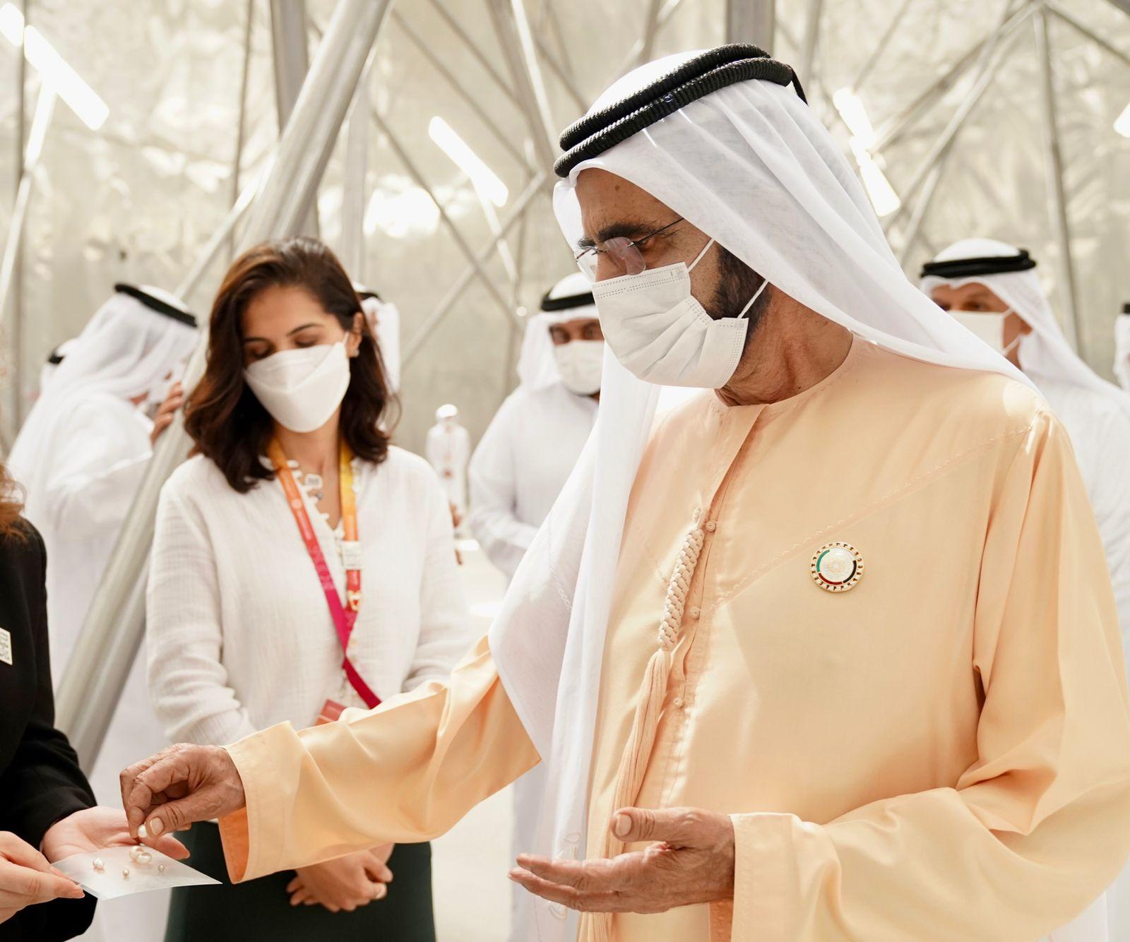 His Highness Sheikh Mohammed bin Rashid Al Maktoum - Mohammed bin Rashid visits the pavilions of Bahrain, Qatar, Kuwait and Russia at Expo 2020 Dubai